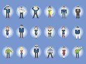 Set of characters pixel