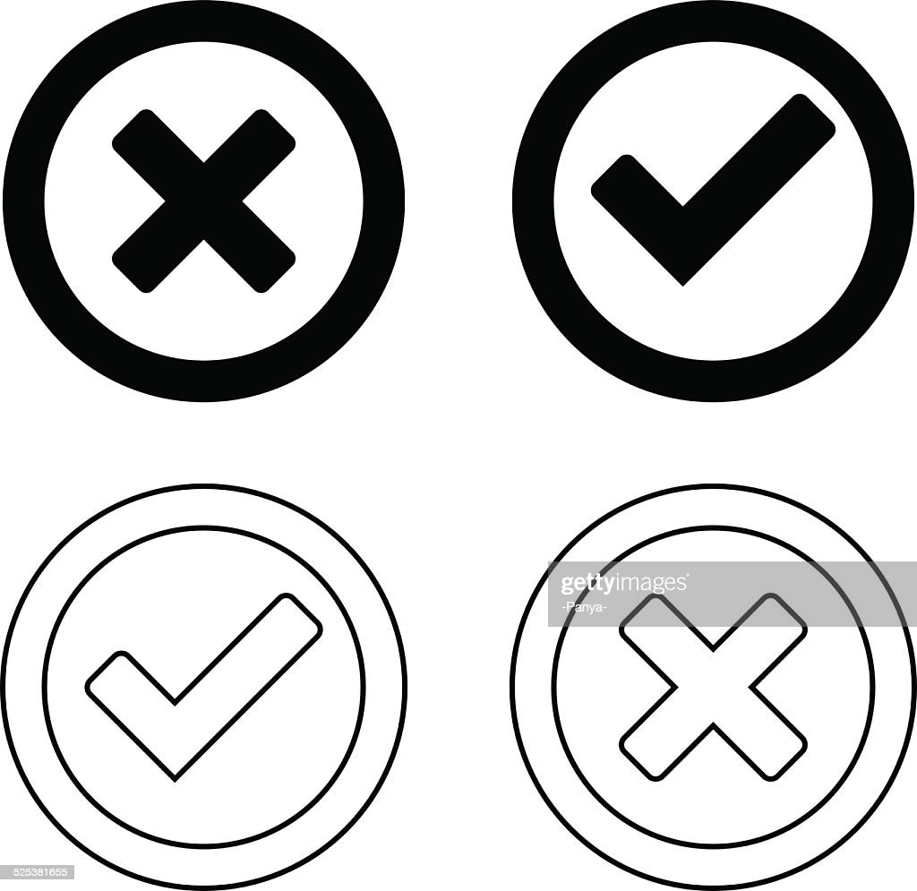 Set Of Check Mark Icons Vector Art Getty Images