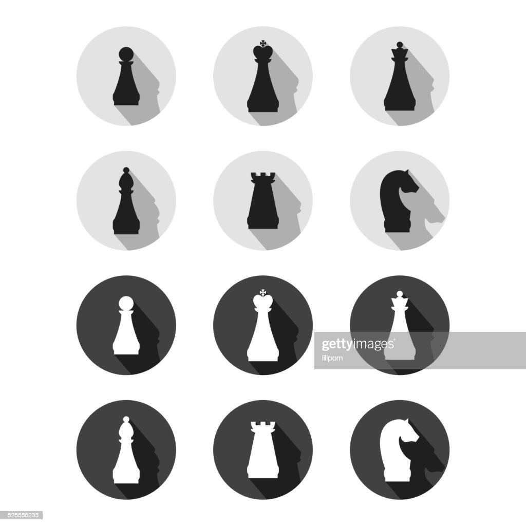 Set of chess game symbols vector art getty images set of chess game symbols vector art biocorpaavc Gallery