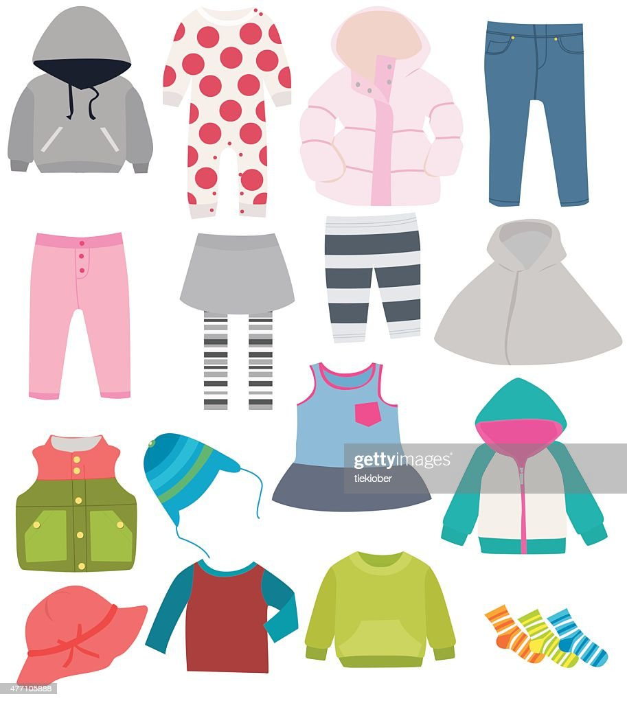 set of children's clothes