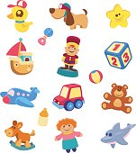 A set of children's toy images