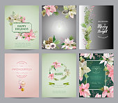 Set of Christmas Brochures and Cards - Colorful Layouts