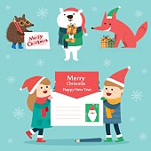 Set of Christmas lettering and graphic elements,vector illustrations