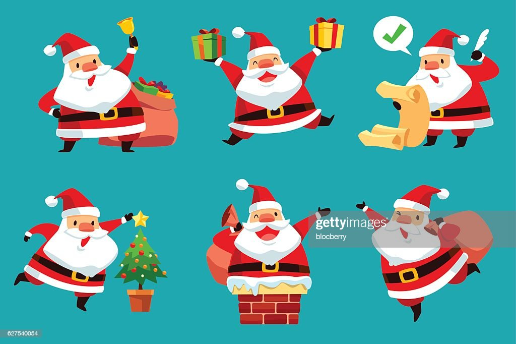 set of Christmas Santa Claus