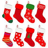 Set of Christmas socks
