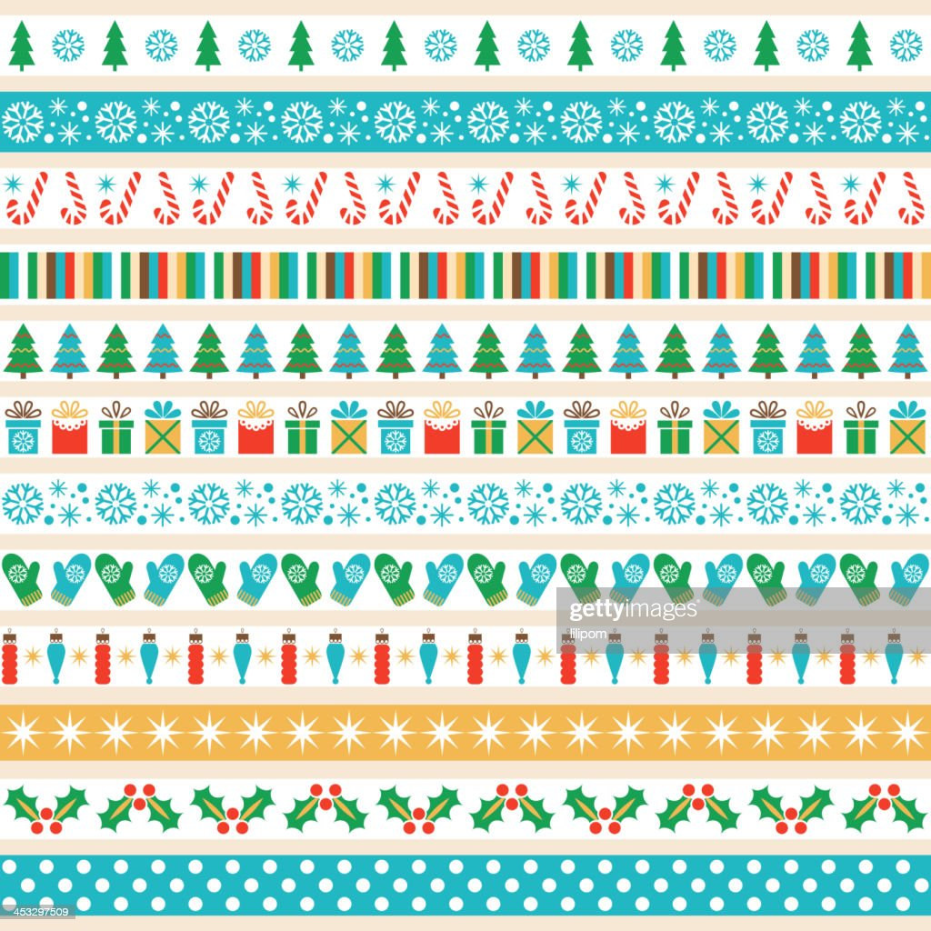 Set of Christmas tape strips