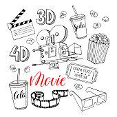 set of cinema attributes