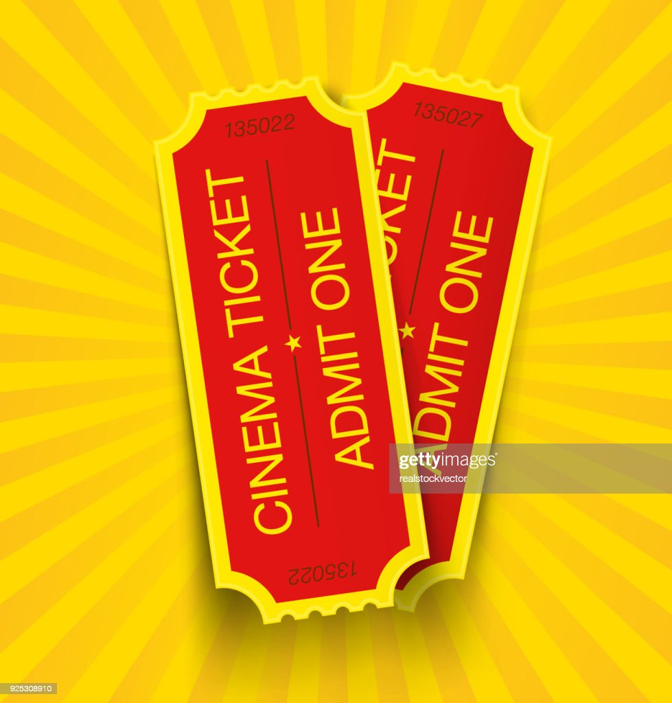 Set of cinema tickets.