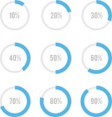 Set of circle diagrams for infographics