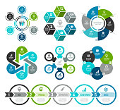 Set of Circle Infographic Elements