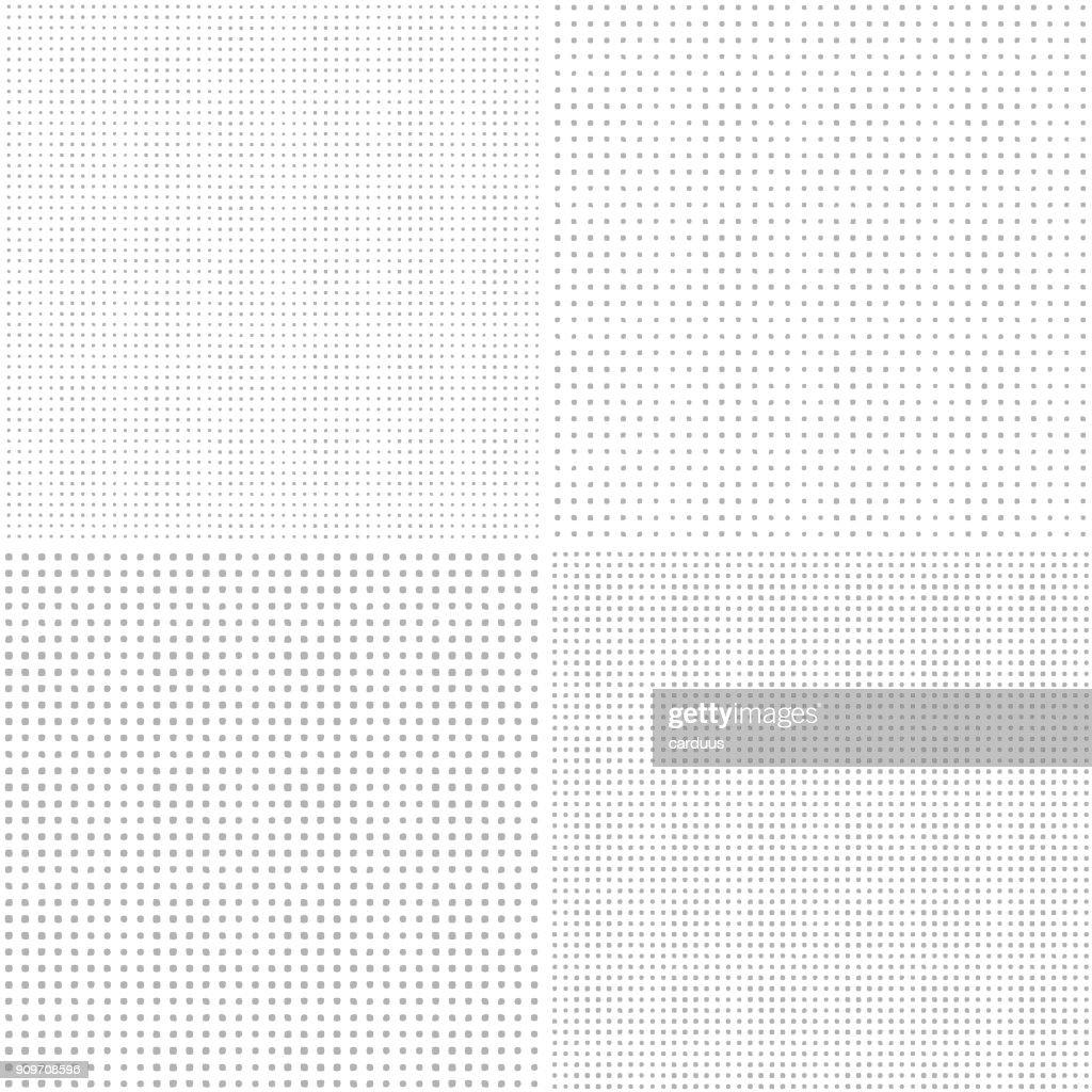 set of circle seamless patterns : stock illustration