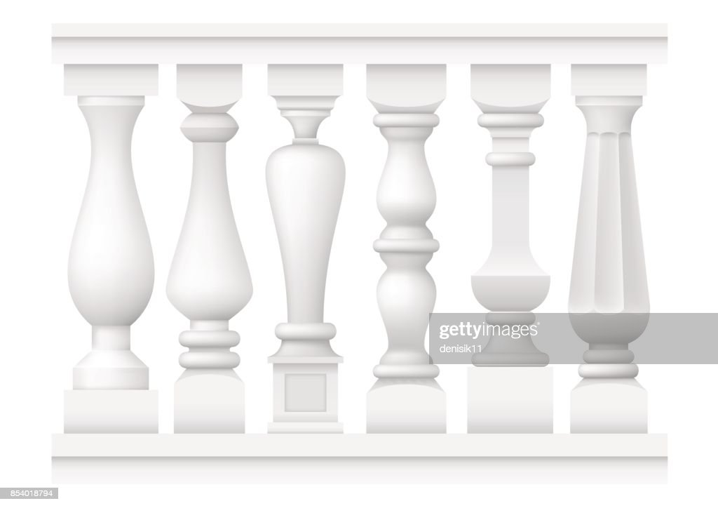 Set of classic balusters