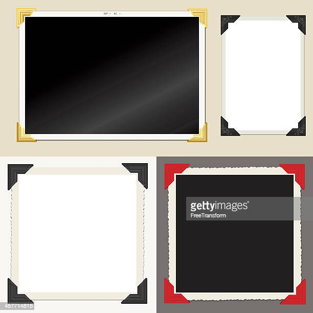 alte fotos - sammelalbum stock-grafiken, -clipart, -cartoons und -symbole
