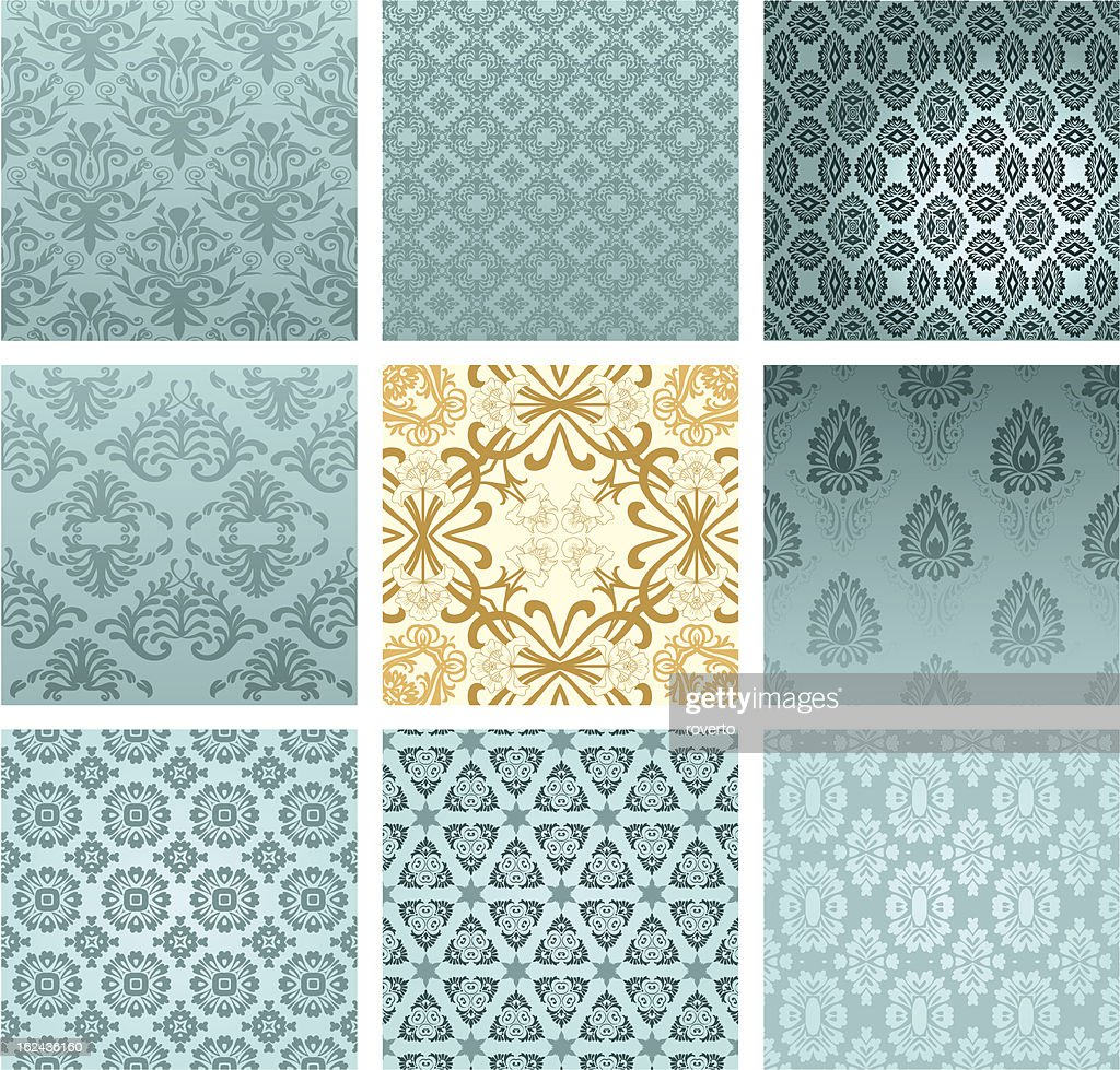 Set of classic patterns seamless wallpaper