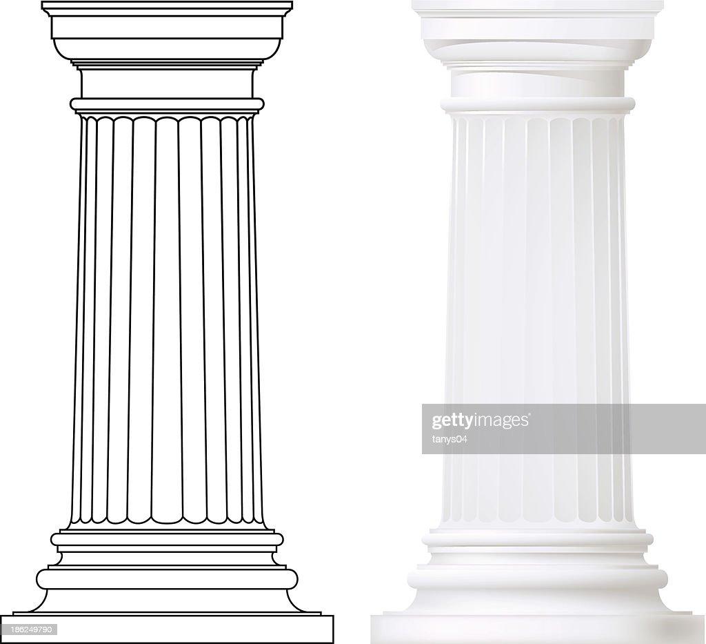 set of classic style columns