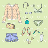 Set of clothes in vector