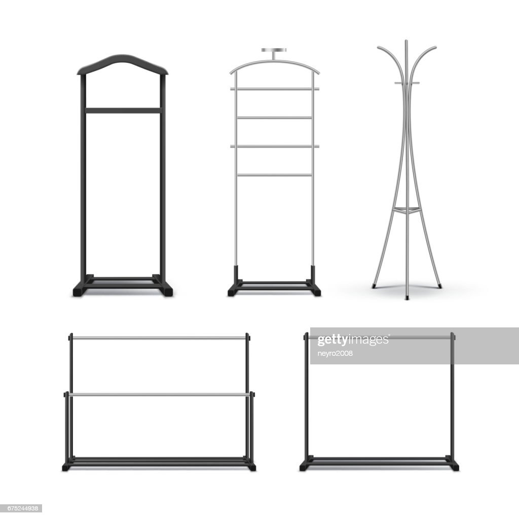 Set of clothes racks