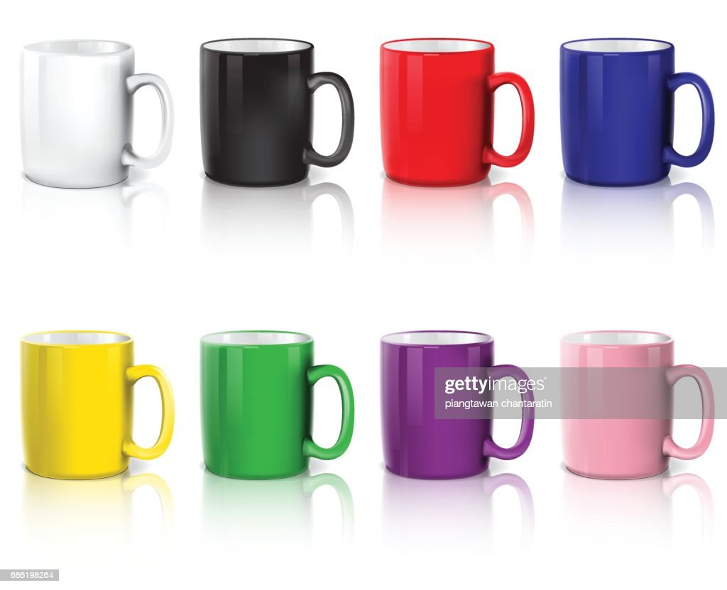set of coffee cups
