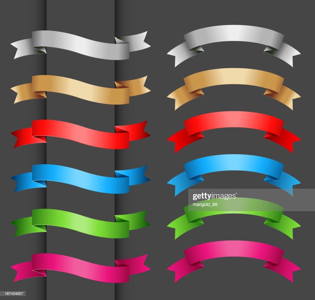 Set di banner di colore : Arte vettoriale