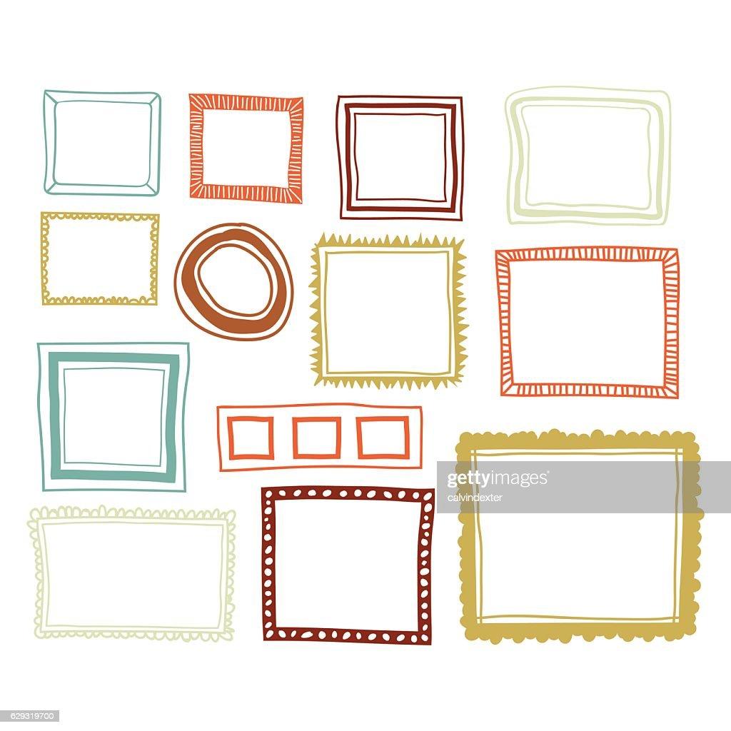 カラーフレームのセット : ストックイラストレーション