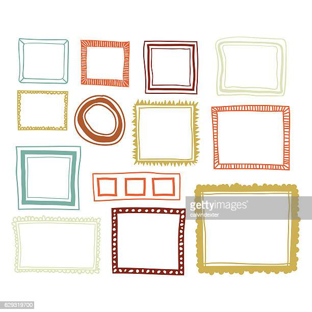 Set of color frames