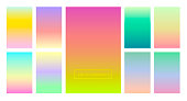 A set of color gradients for the background and wallpaper of the screen and screen. Modern design