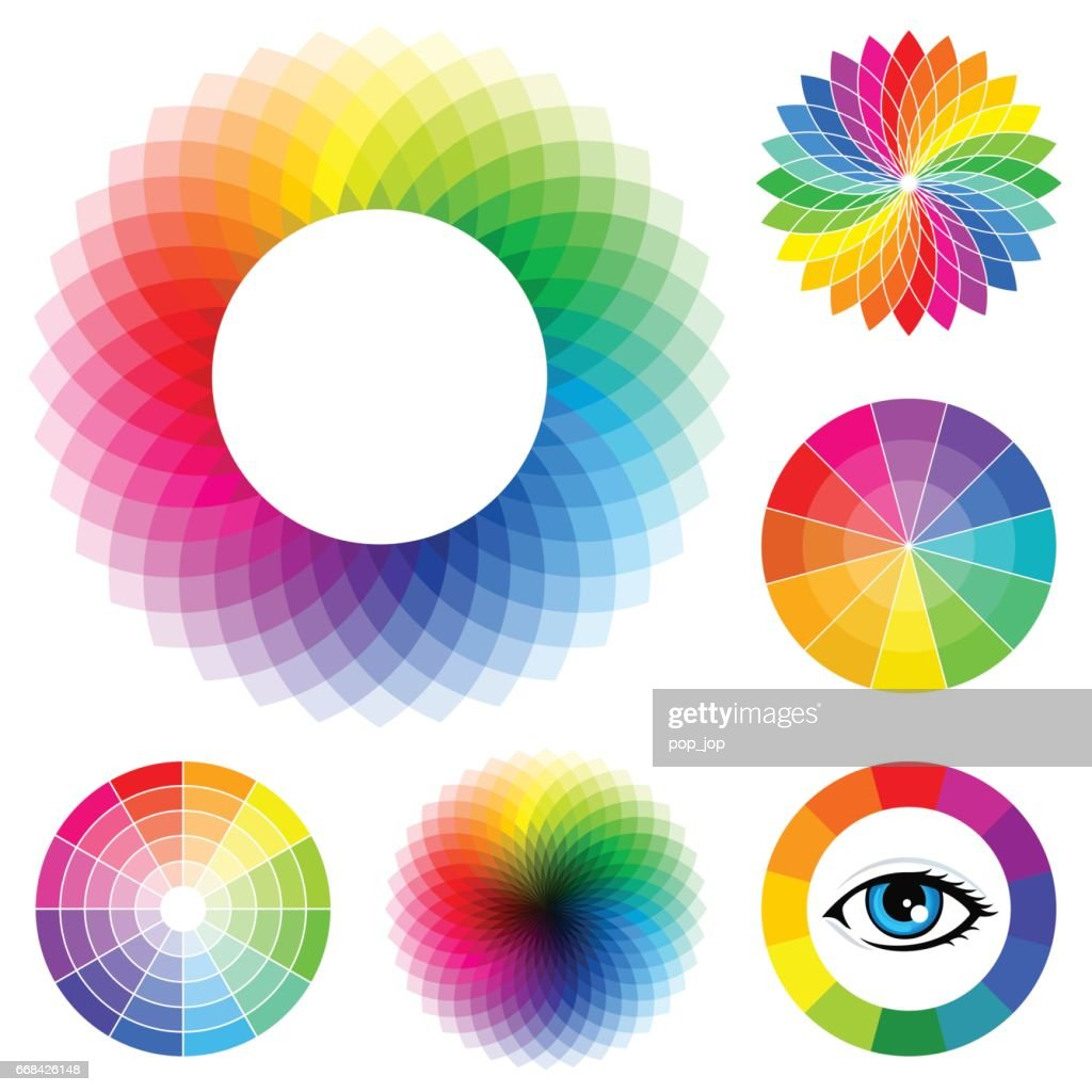Set of Color Wheels - illustration