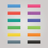 Set of colored Buttons. Web elements. Vector.