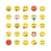set of colored emoji icon