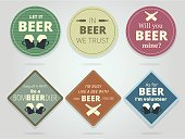 Set Of Colored Round and Square Ready Beer Coaster