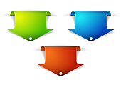 Set of colorful arrow bookmarks