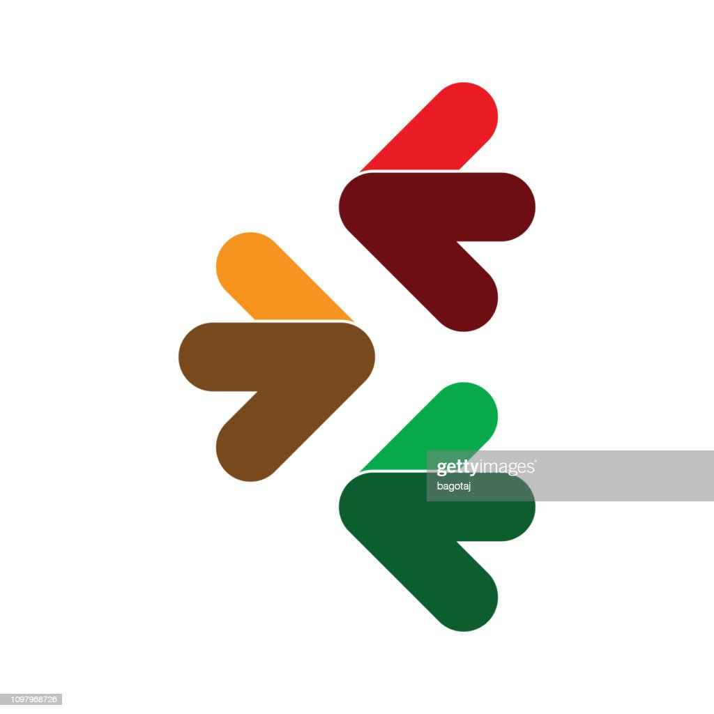 Set of Colorful Arrows Clip-Art