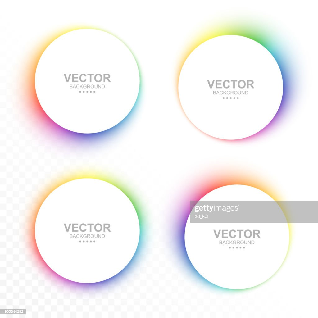 Set of colorful blurry circle banners