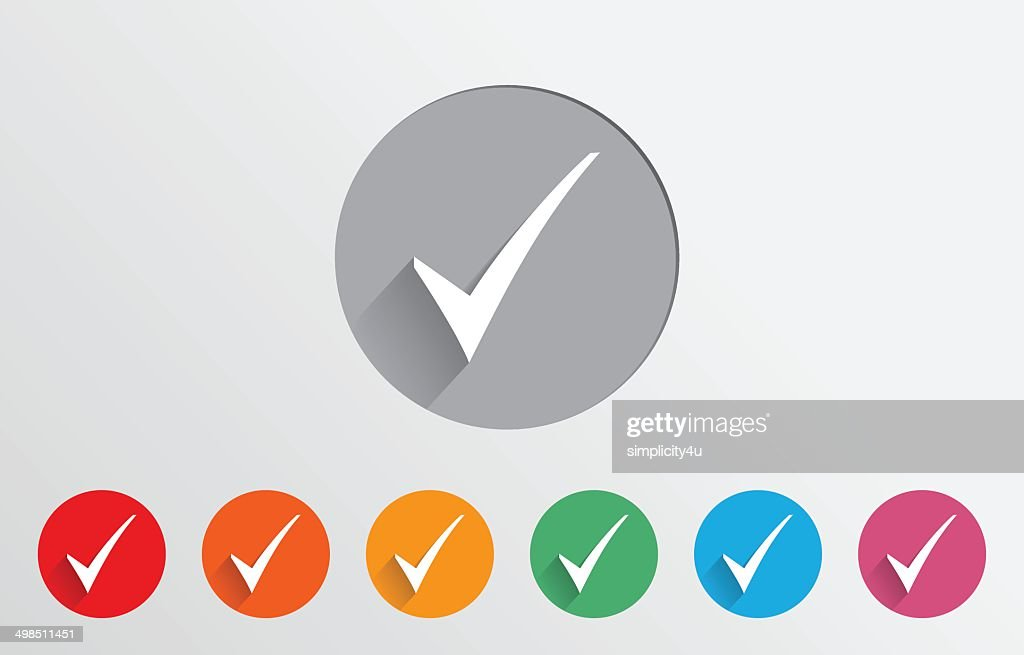 Set of colorful check icons