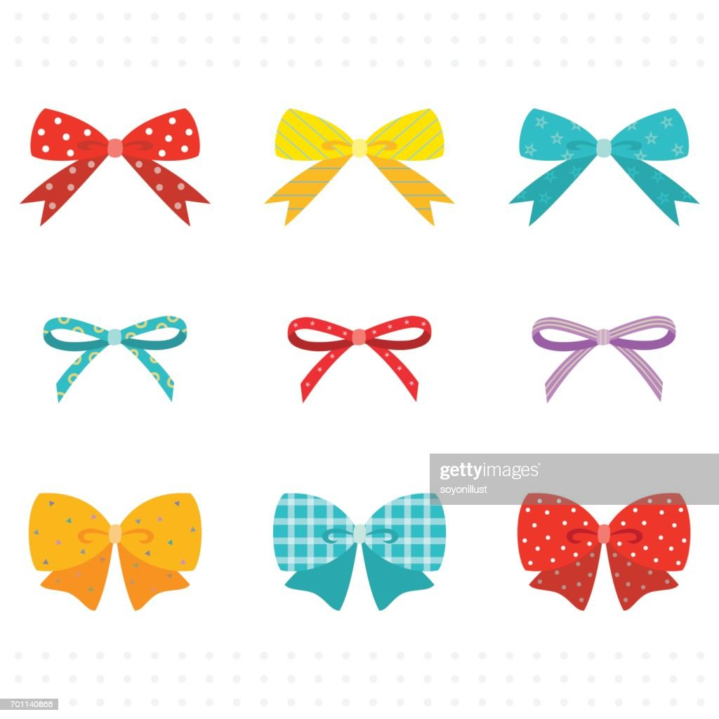 Set of Colorful Cute Ribbon