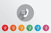 Set of colorful dialer icons