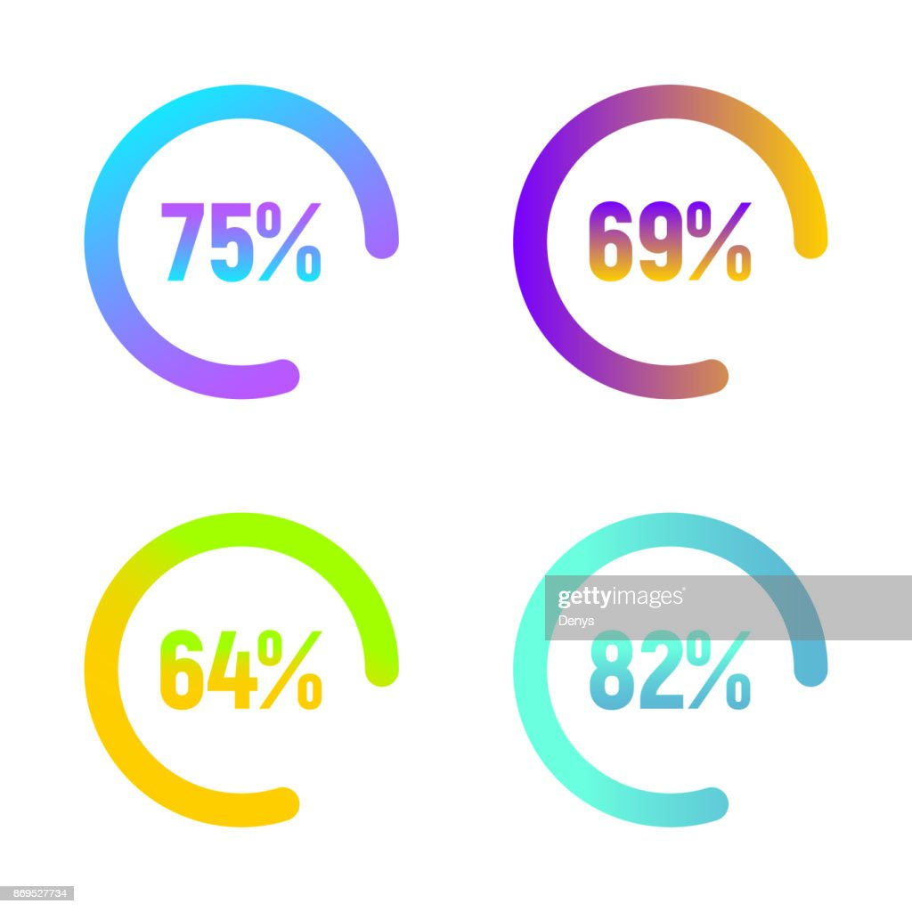 Set of colorful loading bars. Template