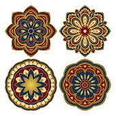 Set of colorful mandalas.