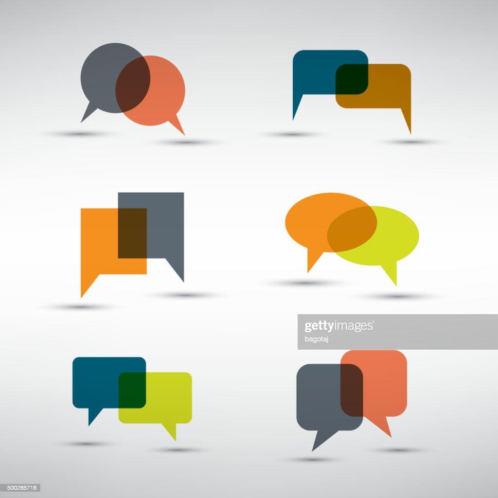 Set of Colorful Speech Bubbles Clip-Art