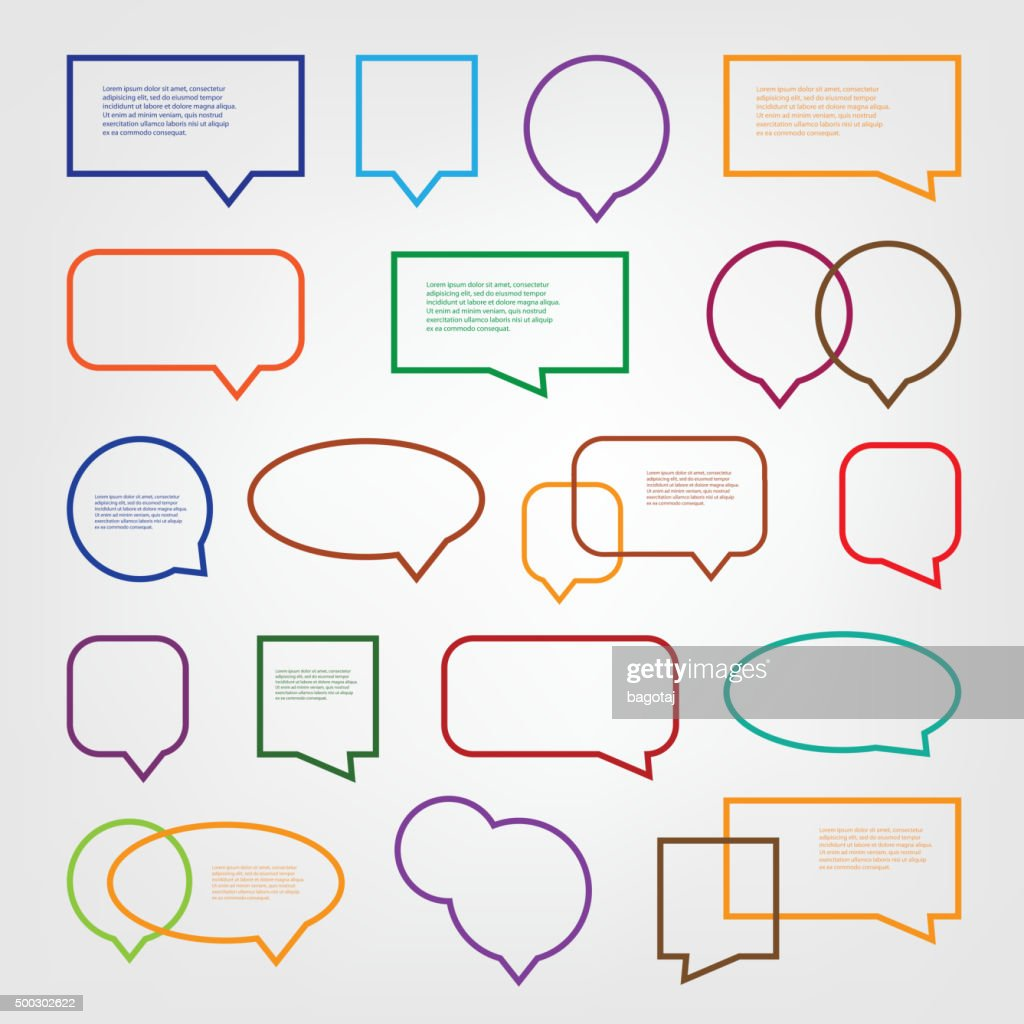 Set of Colorful Speech Bubbles Clip-Art