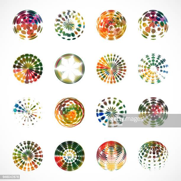 Set of Colorful Spheres