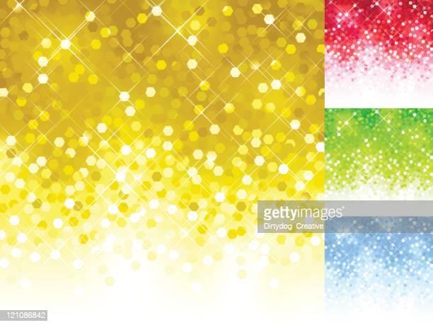 ilustrações, clipart, desenhos animados e ícones de conjunto de luzes desfocadas coloridas brilhante de lantejoulas - lantejoula