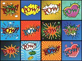 Set of comic sound effects.