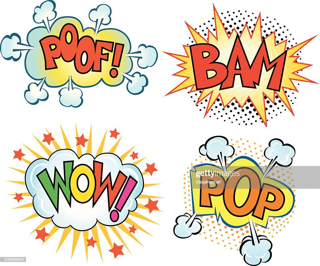 Set of Comics Sound Cartoons