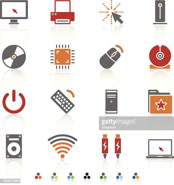 Set of computer technology icons