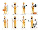 Set of Construction Worker.