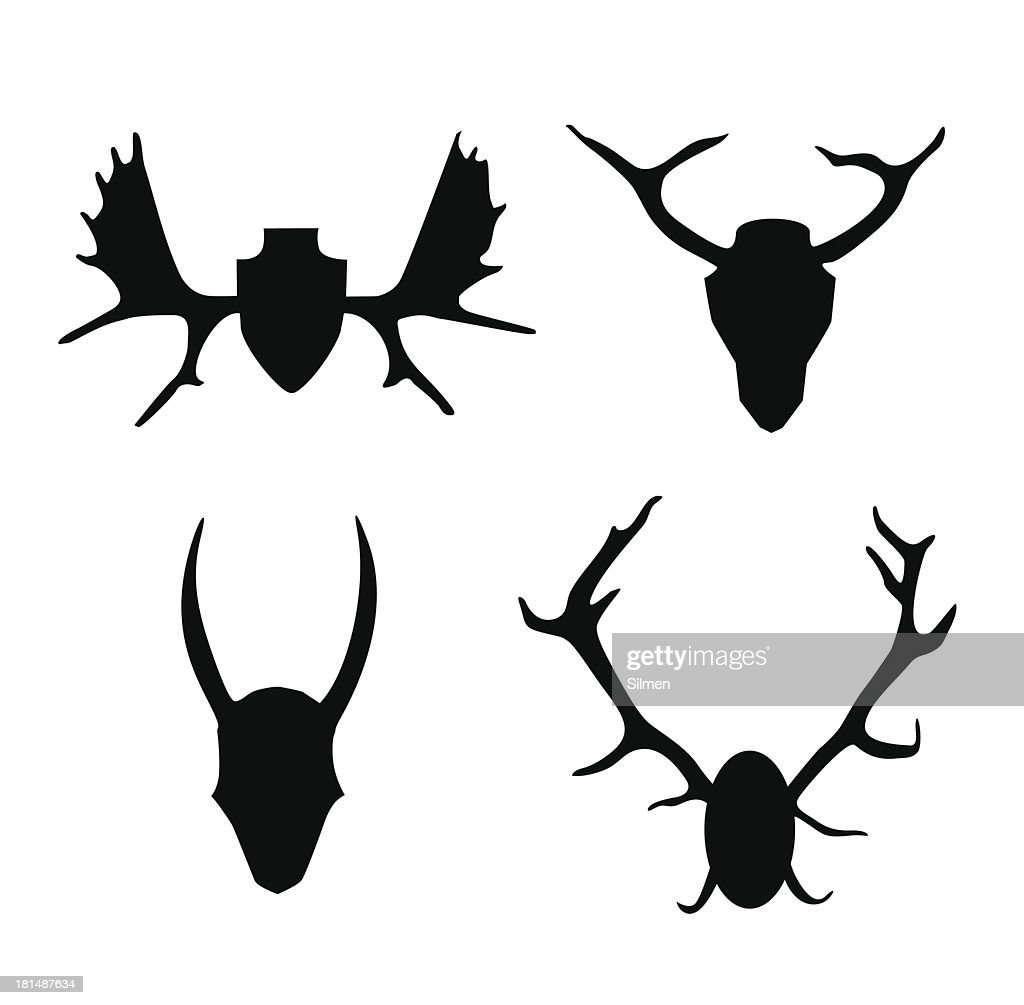 Set of contours horns, antlers