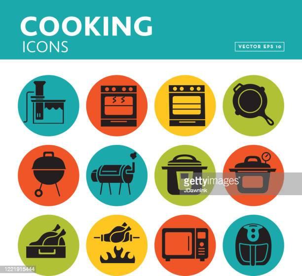 調理方法と家電製品のセット - 調理方法点のイラスト素材/クリップアート素材/マンガ素材/アイコン素材