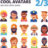 Set of cool avatars. See also other parts.