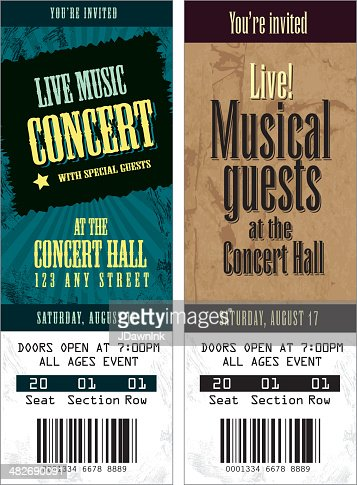 set of cool concert tickets template stock illustration getty images
